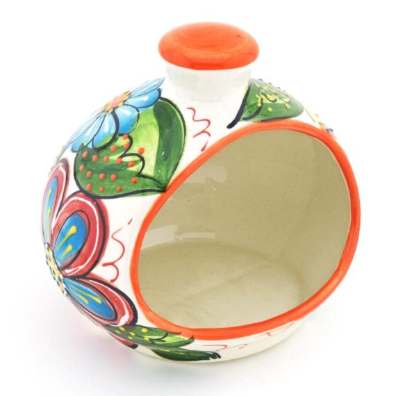 Estropajero con Estropajo Ceramica Mediterraneo 14 cm