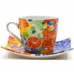 CUP WITH DISHES CUP PLATE 31939