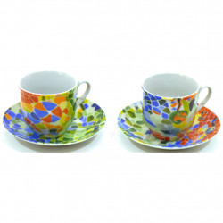 CUP WITH DISHES CUP PLATE 25467