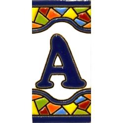 AZULEJO NUMEROS Y LETRAS  A17308.A.MM