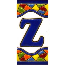 AZULEJO NUMEROS Y LETRAS  17308