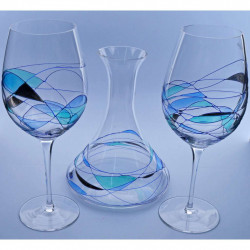 DECANTER WINE GOBLET SET 26945