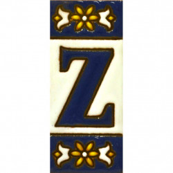 AZULEJO NUMEROS Y LETRAS  01454