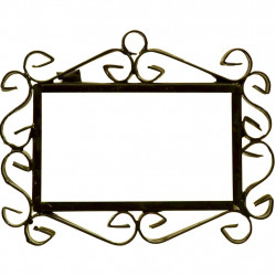 IRON FRAME FRAME LETTERS AND NUMBERS 03543