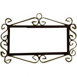 IRON FRAME FRAME LETTERS AND NUMBERS 03544