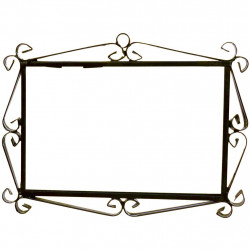 IRON FRAME FRAME LETTERS AND NUMBERS 17602