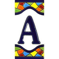 AZULEJO NUMERI E LETTERE  A17307.A