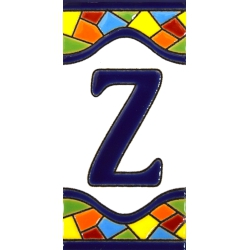 AZULEJO NUMEROS Y LETRAS  17307