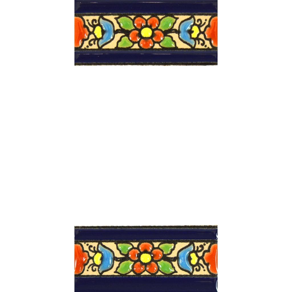 Numeros y Letras en azulejo Ceramica policromada Nombres y direcciones Dise/ño Flores Mini 7,3 cm x 3,5 cm. ART ESCUDELLERS N/úmeros casa Pintados a Mano t/écnica Cuerda Seca Numero Cero 0