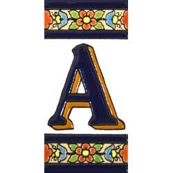 AZULEJO NUMEROS Y LETRAS  A01456.A