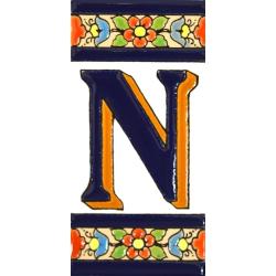 AZULEJO NUMEROS Y LETRAS  01456