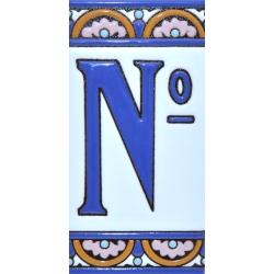 AZULEJO NUMEROS Y LETRAS A10168.º