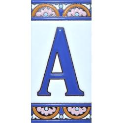 AZULEJO NUMEROS Y LETRAS  A10168.A