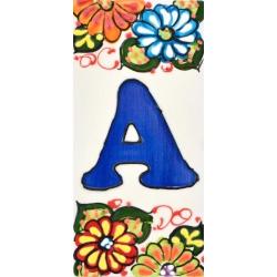 NUMEROS Y LETRAS AZULEJO  A41302.A