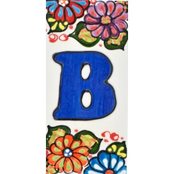 LETTERS AND NUMBERS TILE  A41302.B