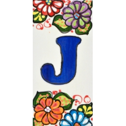 LETTERS AND NUMBERS TILE  A41302.J