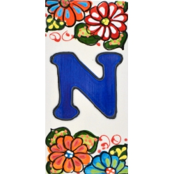 LETTERS AND NUMBERS TILE  A41302.N