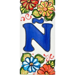 LETTERS AND NUMBERS TILE A41302.Ñ