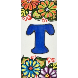 LETTERS AND NUMBERS TILE  A41302.T
